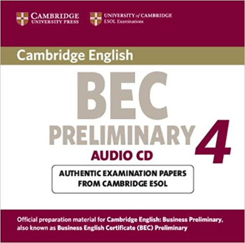 Cambridge BEC 4 Preliminary Audio CD licen.