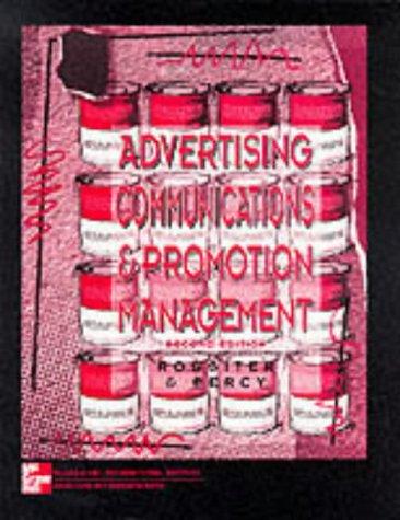 Advertising Communications & Promotion Management