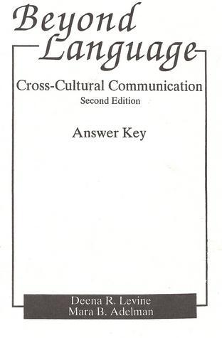 Beyond Language Answer Key