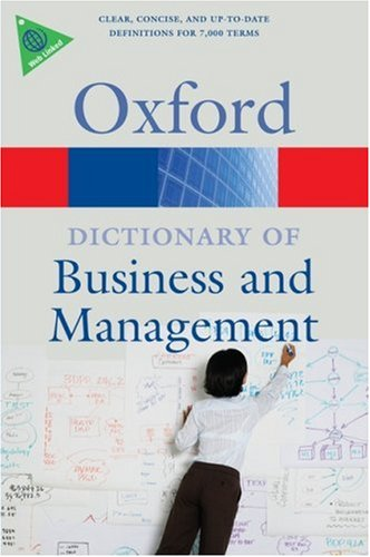 A Dictionary of Business and Management 5 Edition