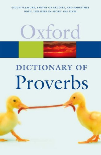 A Dictionary of Proverbs 5 Edition