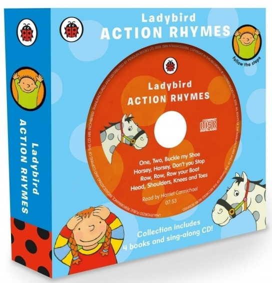 Action Rhymes Collection 4 books +D