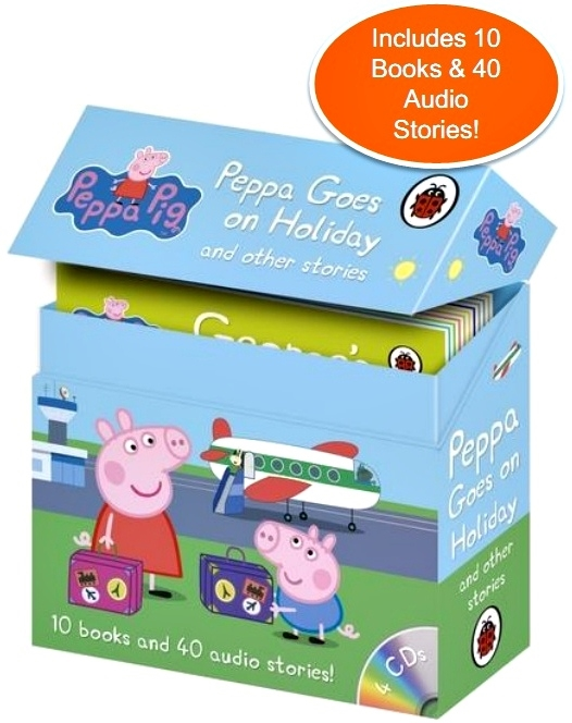 Peppa Goes on Holiday and Other Stories (10 books +4CDs)