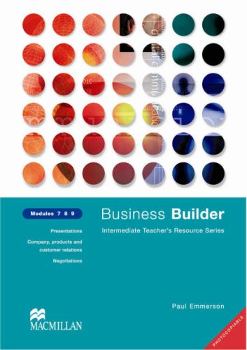 Business Builder Teacher's Resource Book  Levels 7-9 Photocopiable
