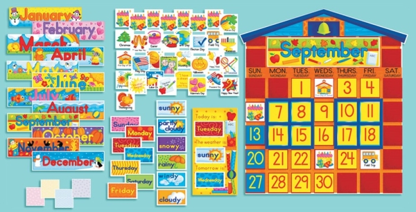 All-in-One Schoolhouse Calendar (126 pieces)