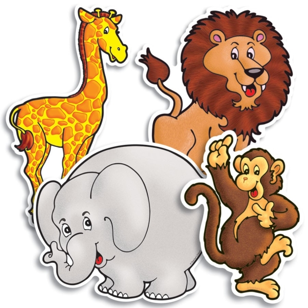 Accent Punch-Outs Zoo Animals (48 pieces)