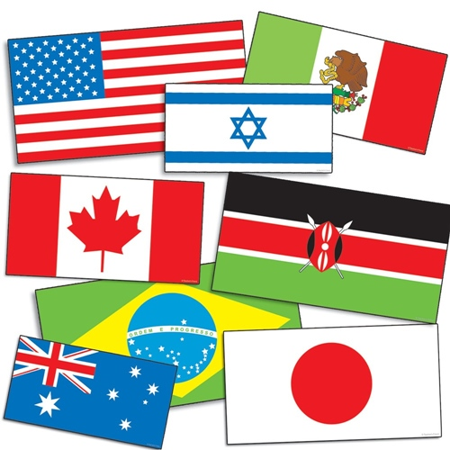 Accent Punch-Outs International Flags (72 pieces)