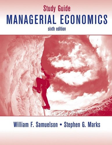 Managerial Economics Study Guide 6 Edition