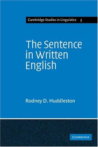 Sentence in Written English