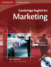 Cambridge English for Marketing  Intermediate Plus Student's Book with Audio CDs (2)