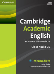 Cambridge Academic English B1+ Intermediate Class Audio CD