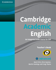 Cambridge Academic English C1 Advanced Teacher's Book