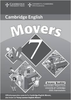 Cambridge Young Learners English Tests 7 Movers Answer Booklet
