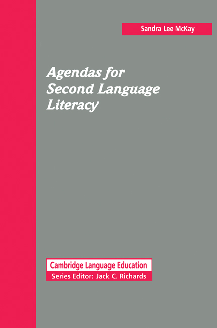 Agendas for Second Language Literacy Paperback