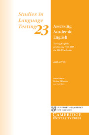 Assessing Academic English: Testing English proficiency 1950-1989 - the IELTS solution Paperback