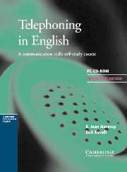 Telephoning in English CD-ROM CD-ROM for Windows