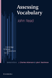 Assessing Vocabulary Paperback