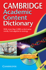 Cambridge Academic Content Dictionary Paperback with CD-ROM for Windows and Mac