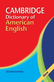 Cambridge Dictionary of American English  Second edition Paperback