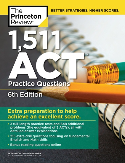 1511 ACT Practice Questions, 6th Edition