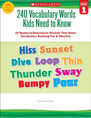 240 Vocabulary Words Kids Need to Know: Grade 1: 24 Ready-to-Reproduce Packets