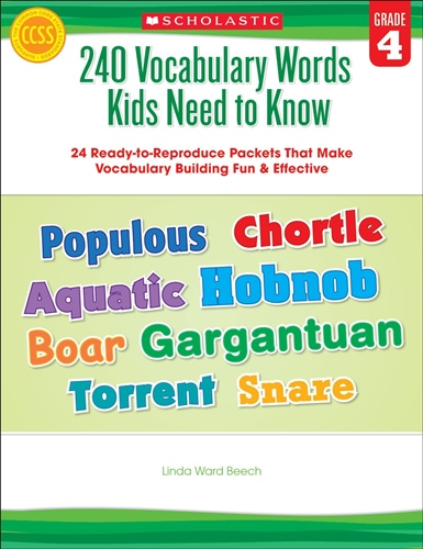 40 Vocabulary Words Kids Need to Know: Grade 4: 24 Ready-to-Reproduce Packets