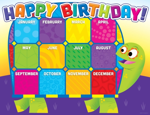 Jingle Jungle Birthday Chart (months of the year)