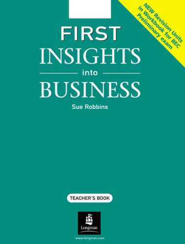 First Insights into Business Teacher's Resource Book