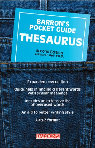 Barron's Pocket Guide Thesaurus  2nd Edition