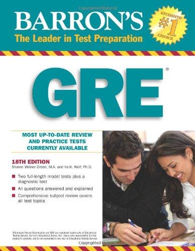 Barron's GRE 18 Edition
