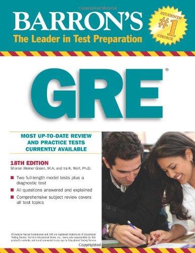 Barron's GRE +R  18 Edition