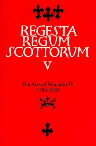Acts of Malcolm IV (1153-1165)