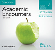 Academic Encounters Level 4  Class Audio CDs (3) Listening and Speaking  Human Behavior  2nd Edition