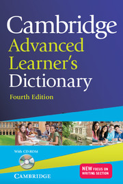 Cambridge Advanced Learner's Dictionary with Cd-Rom 4 Edition