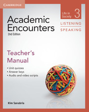 Academic Encounters Level 3 .  Teacher's Manual Listening and Speaking .  Life in Society  2nd Edition