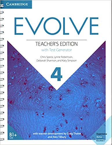 Evolve Level 4 Teacher's Edition With Test Generator