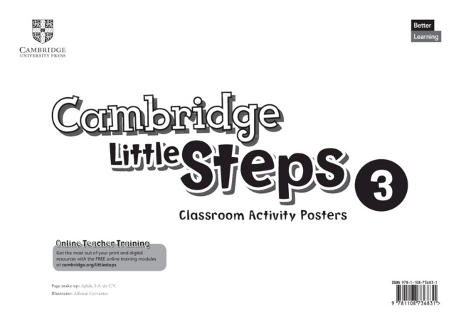 Cambridge Little Steps Level 3 Classroom Activity Posters
