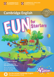 Fun for Starters, Movers and Flyers 4Ed Starters Student's Book + Online Activities + Audio + Home F