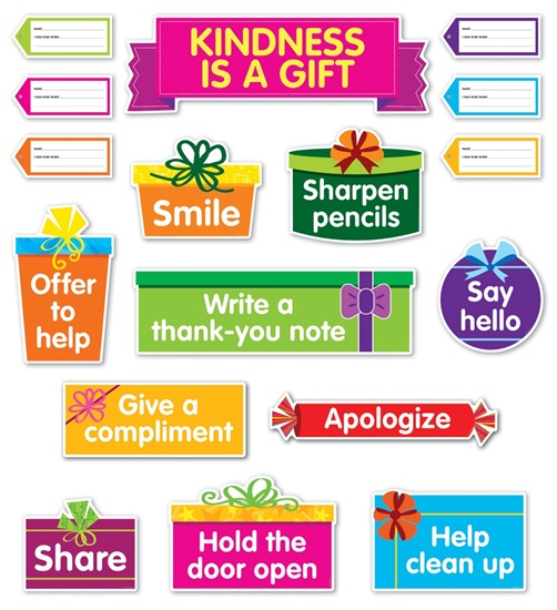 Kindness Is a Gift Bulletin Board (41 pieces)