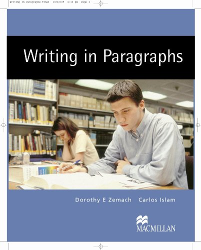 Writing In Paragraphs Student's Book
