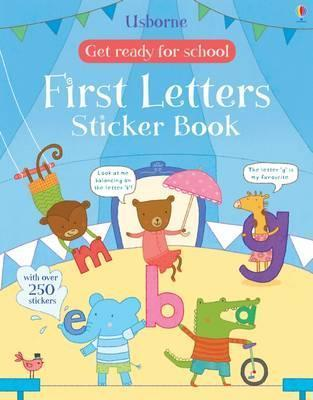 Get Ready for School: First Letters Sticker Book