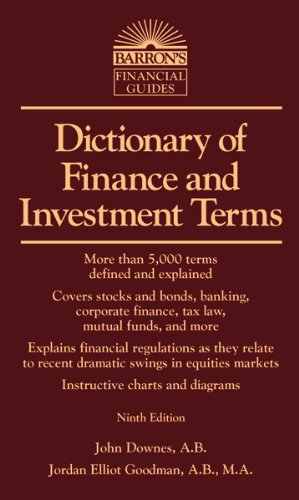 Barron's Dictionary of Finance and Investment Terms 9th Edition
