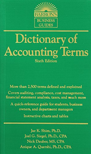 Barron's Dictionary of Accounting Terms 6th Edition