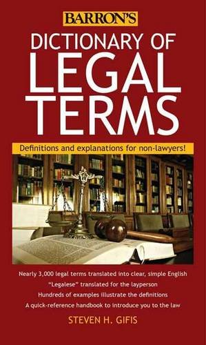Barron's Dictionary of Legal Terms 5th Edition