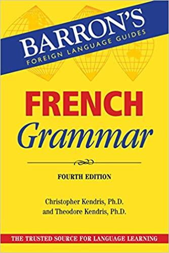 Barron's French Grammar 4th Edition