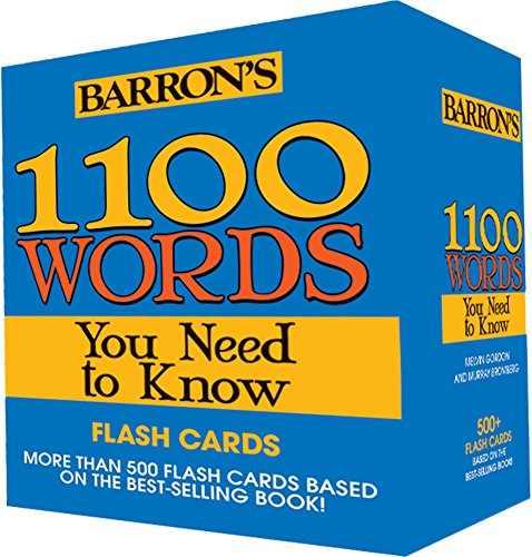 1100 Words You Need to Know Flashcards  (554 cards boxed)