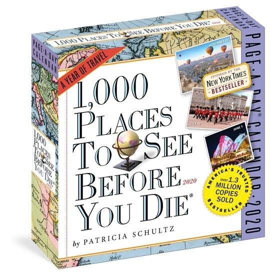 1000 Places to See Before You Die Page-A-Day Calendar 2020