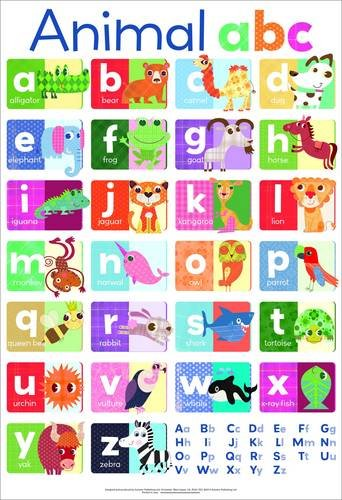 Animal ABC chart (laminated, 520x760mm)