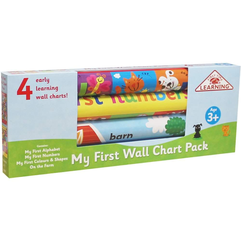 First Time Learning: My First Wall Chart Pack Age 3+