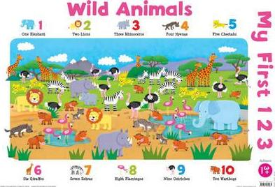 My First 123: Wild Animals (laminated, 520x760mm)
